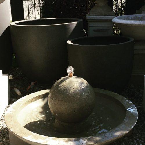Zen-Sphere-Fountain-old-farm-garden-stone-koksilah-duncan-nanaimo-victoria-bc